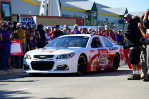 Green Bay, WI - September 3, 2016 - Lambeau Field: NASCAR car on the set of College GameDay Built by the Home Depot (Photo by Phil Ellsworth / ESPN Images)