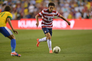 Landover, MD - May 30, 2012 - FedExField: Herculez Gomez (9) of the US Men's National Soccer Team during an international friendly match (Photo by Phil Ellsworth / ESPN Images)
