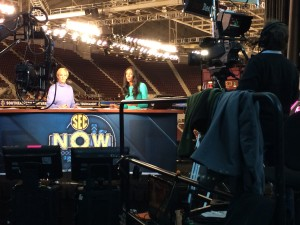 Maria Taylor hosting SEC Now on-site coverage at the SEC Women's Basketball Tournament