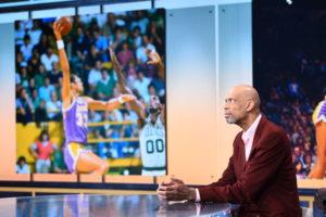 Bristol, CT - October 29, 2015 - Studio X: Kareem Abdul-Jabbar on the set of SportsCenter (Photo by Joe Faraoni / ESPN Images)