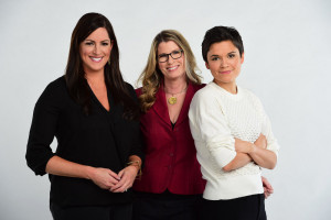 Bristol, CT - December 2, 2015 - Photo Studio: (L to R) Portrait of Sarah Spain, Jane McManus and Kate Fagan (Photo by Joe Faraoni / ESPN Images)