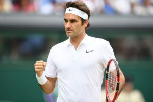 Wimbledon, England - July 8, 2016 - AELTC: Roger Federer competing in the Men's singles semi-final match during the 130th edition of the Wimbledon Championships (Photo by Scott Clarke / ESPN Images)