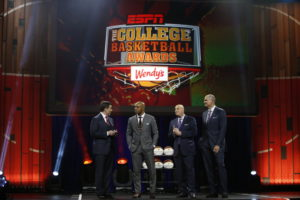 Los Angeles, CA - April 8, 2016 - The Novo by Microsoft: Rece Davis, Jay Williams, Seth Greenberg and Jay Bilas during the 2016 College Basketball Awards (Photo by Eddie Perlas / ESPN Images)