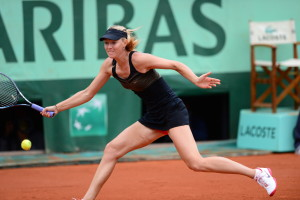 Paris, France - June 1, 2012 - Stade Roland Garros: Maria Sharapova of Russia in action during her Women's singles match of the 111th staging of the French Open (Photo by Scott Clarke / ESPN Images).- 20120601_SC1_7261.JPG -