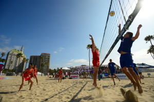 Los Angeles, CA - July 28, 2015 - Long Beach: Beach Volleyball during the 2015 Special Olympics World Summer Games (Photo by Kohjiro Kinno /  ESPN Images)