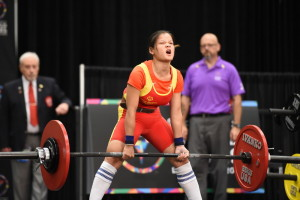 Los Angeles, CA - July 27, 2015 - Los Angeles Convention Center: Powerlifting during the 2015 Special Olympics World Summer Games (Photo by Scott Clarke / ESPN Images)