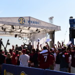 Columbia, SC - August 28, 2014 - University of South Carolina: Fans on the set of SEC Nation (Photo by Phil Ellsworth / ESPN Images)