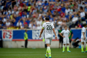 Harrison, N.J. - May 30, 2015 - Red Bull Arena: Abby Wambach (20) of the United States Women's National Soccer Team during an international friendly match (Photo by Joe Faraoni / ESPN Images)