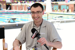 Los Angeles, CA - July 26, 2015 - Uytengsu Aquatics Center: Jason Benetti at aquatics during the 2015 Special Olympics World Summer Games (Photo by Phil Ellsworth / ESPN Images)