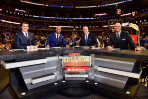 Chicago, IL - November 17, 2015 - United Center: Rece Davis, Jay Williams, Seth Greenberg and Jay Bilas on the set of College GameDay Covered by State Farm (Photo by Phil Ellsworth / ESPN Images)