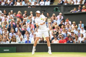 Wimbledon, England - July 10, 2016 - AELTC: Andy Murray competing in the Men's singles Finals match during the 130th edition of the Wimbledon Championships (Photo by Scott Clarke / ESPN Images)