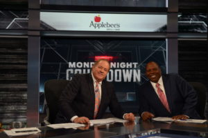 Bristol, CT - December 19, 2016 - Studio W: Chris Berman and Tom Jackson on the set of Monday Night Countdown (Photo by Melissa Rawlins / ESPN Images)