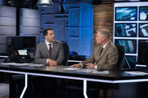 Bristol, CT - September 14, 2014 - Studio W: Adam Schefter (l) and Chris Mortensen on the set of Sunday NFL Countdown (Photo by Rich Arden / ESPN Images)