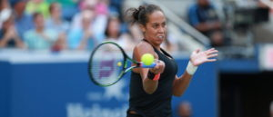 Queens, NY - September 6, 2015 - USTA Billie Jean King National Tennis Center: Madison Keys competing in the 135th staging of the US Open (Photo by Allen Kee / ESPN Images)