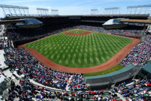 Chicago, IL - May 3, 2014: Wrigley Field, home of the Chicago Cubs during a regular season game (Photo by Allen Kee / ESPN Images)
