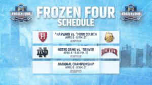 Frozen Four Schedule