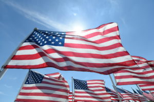 West Chester Township, OH - May 25, 2014: America flags on Memorial Day (Photo by Allen Kee / ESPN Images)