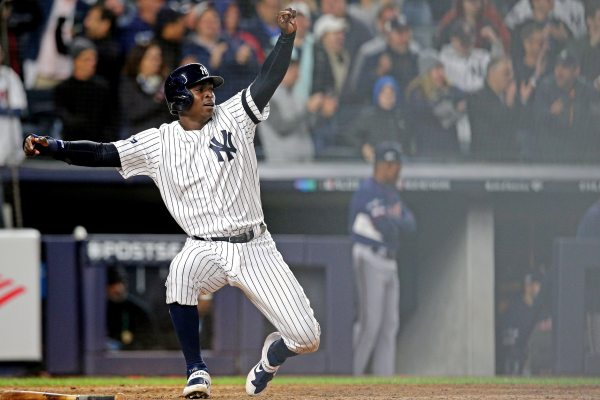 WATCH: Didi Gregorius breaks game open with eye-popping grand slam in Game 2 of ALDS