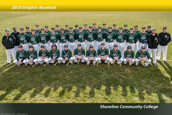 Shoreline CC baseball team photos at Shoreview Park, Shoreline, Wa., Feb. 7, 2014.