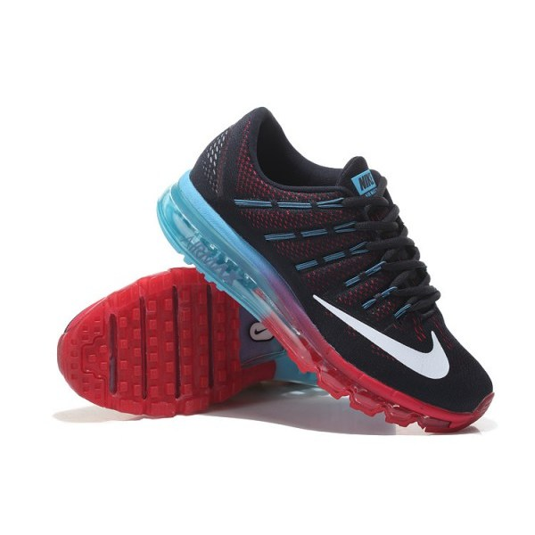 release date: 53b53 e3c39 CHEAP AIR MAX 2016 LEATHER BLACK RED BLUE - Sports N Sports