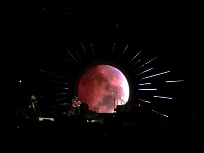 If the Pink Floyd connection wasn't obvious enough, they literally had a moon onstage