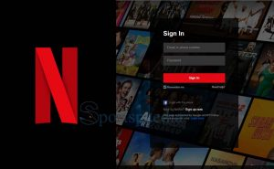 Log into Netflix