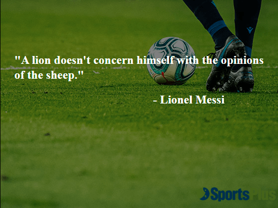 A lion doesn't concern himself with the opinions of the sheep.