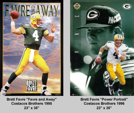 Brett Favre Costacos Brothers Posters 1995 and 1996