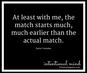 the match starts much, much earlier than the actual match
