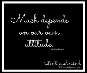 Much depends on our own attitude.