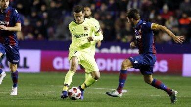 Photo of Levante 2 Barcelona 1: Coutinho on target as Blaugrana beaten in Copa del Rey