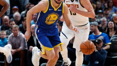 Photo of Klay, Curry lead as Warriors score NBA record 51 points in first quarter against Nuggets