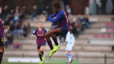 Photo of Asisat Oshoala celebrates her 4th league goal with Zanku as Barça Femini trash Sociedad