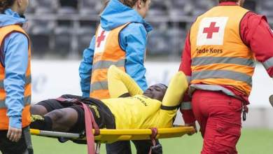 Photo of Akinyemi Adeleke out for several months after he fractures ankle in Norway league opener
