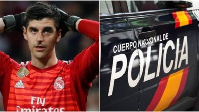 Photo of Courtois faces new low, reported to Police after involving in altercation