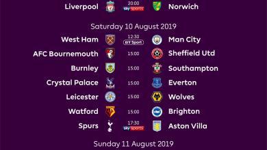 Photo of 2019-20 PL Season: Man Utd To Face Chelsea As Liverpool Starts Vs Norwich