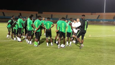Photo of First Training Session Held By Super Eagles In Cairo