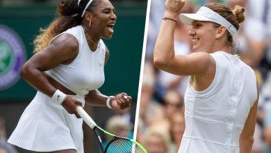 Photo of Serena, Halep In Wimbledon Final