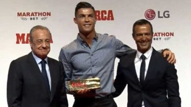 Photo of Cristiano Ronaldo receives Marca legend award