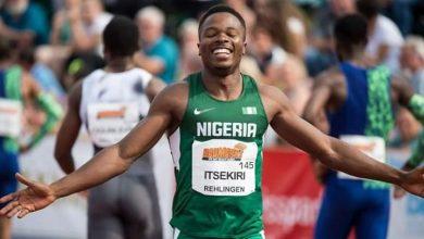 Photo of Usheoritse Itsekiri the fastest man in Nigeria