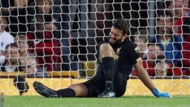 Photo of Klopp Confirms Alisson Out For Few Weeks