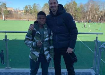 Akinkunmi Amoo and Zlatan Ibrahimovic at Hammarby