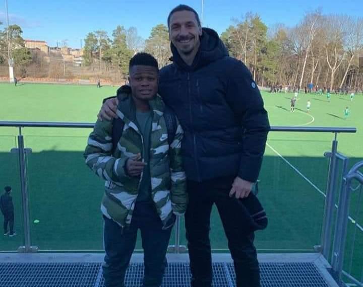 Akinkunmi Amoo and Zlatan Ibrahimovic at Hammarby