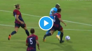Photo of VIDEO: Osimhen's 8-min hat-trick & two assists in Napoli pre-season friendly win against L'Aquila