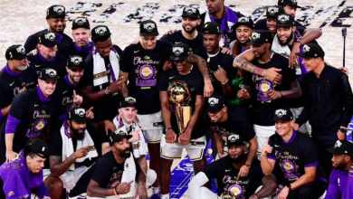 Photo of Lakers beat Heat to win first NBA title since 2000