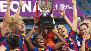 Photo of Oshoala stars as Barcelona Femeni stroll to domestic cup title