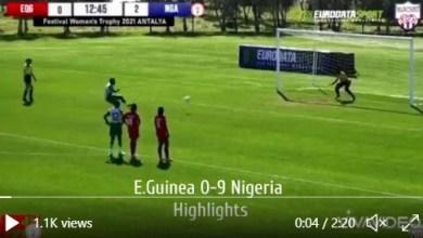 Photo of VIDEO: Oshoala scores four as Super Falcons trash Nzalang National