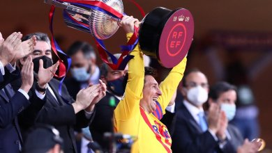 Photo of Barcelona second half blitz blows Athletic Bilbao away, earns them Copa del Rey title