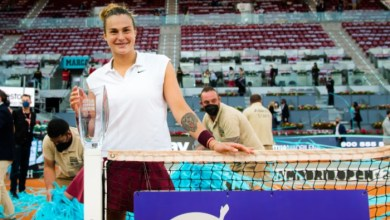 Photo of Sabalenka beats Barty to win Mutua Madrid Open for her 1st clay title