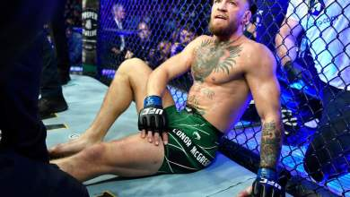 Photo of McGregor loses to Poirier via 1st Round TKO after horror injury